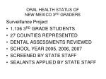 oral health status of new mexico 3 rd graders