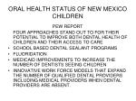 oral health status of new mexico children29