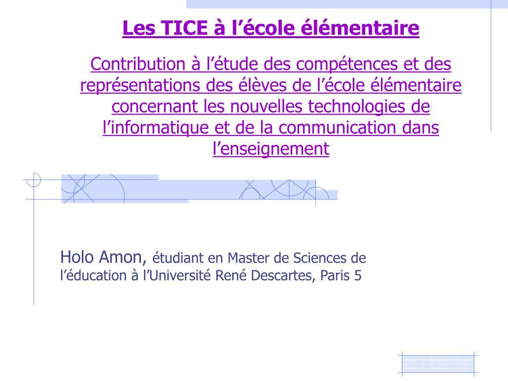 holo amon tudiant en master de sciences de l ducation l universit ren descartes paris 5 l.