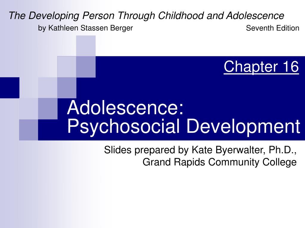 adolescence psychosocial development l.