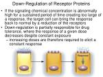 down regulation of receptor proteins