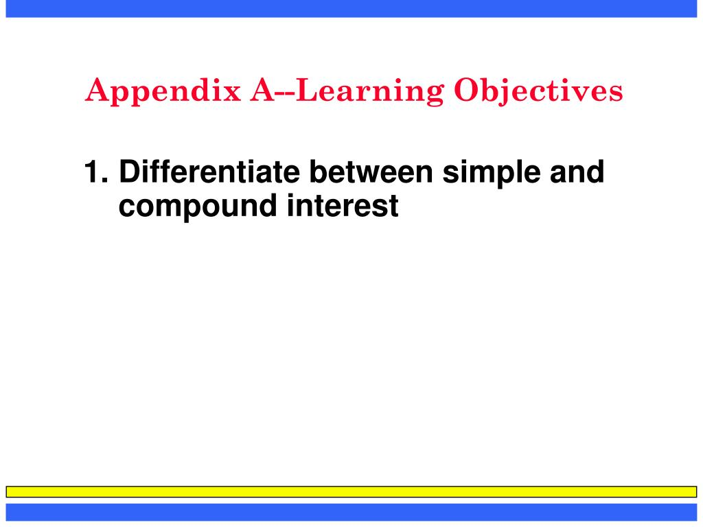 appendix a learning objectives l.