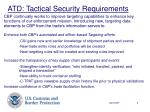 atd tactical security requirements