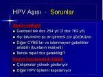 hpv a s sorunlar
