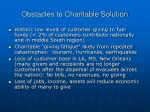 obstacles to charitable solution