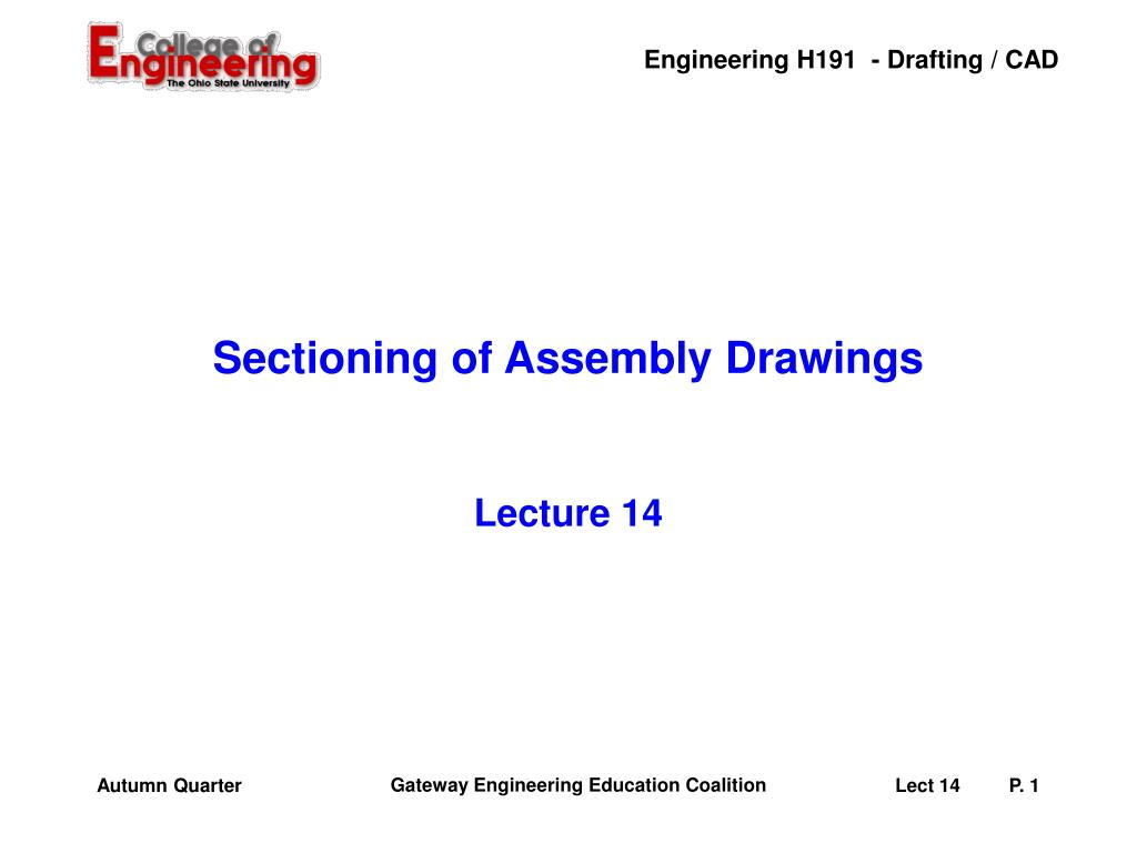sectioning of assembly drawings l.