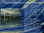 future expansion of tidal turbines