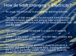 how do tides changing electricity9
