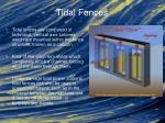 tidal fences