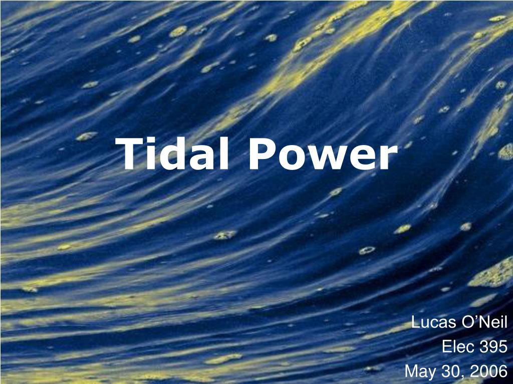 tidal power l.