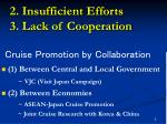 2 insufficient efforts 3 lack of cooperation