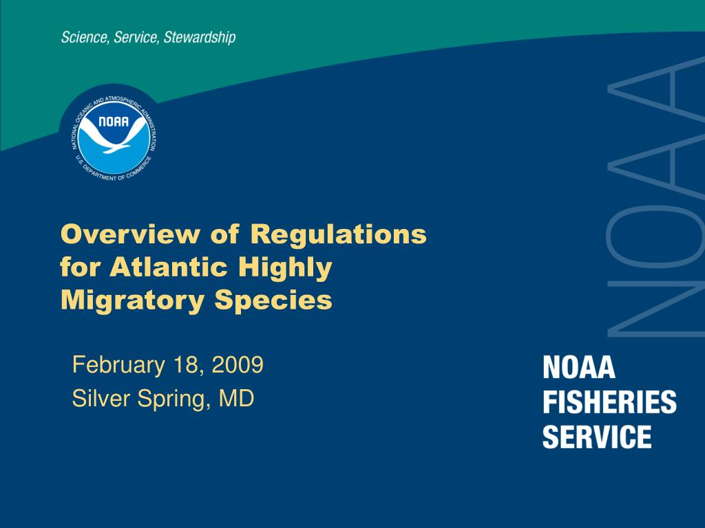 overview of regulations for atlantic highly migratory species l.