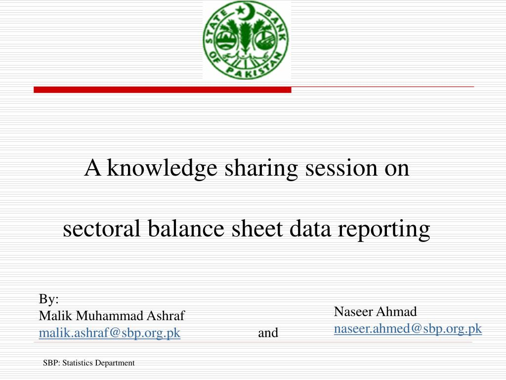 a knowledge sharing session on sectoral balance sheet data reporting l.