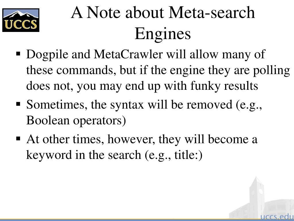 A Note about Meta-search Engines