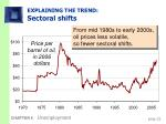 explaining the trend sectoral shifts
