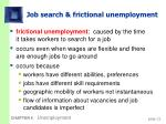 job search frictional unemployment