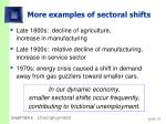 more examples of sectoral shifts