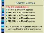 address classes