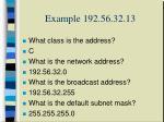 example 192 56 32 13