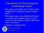 conclusions of cg investigation contributing causes18