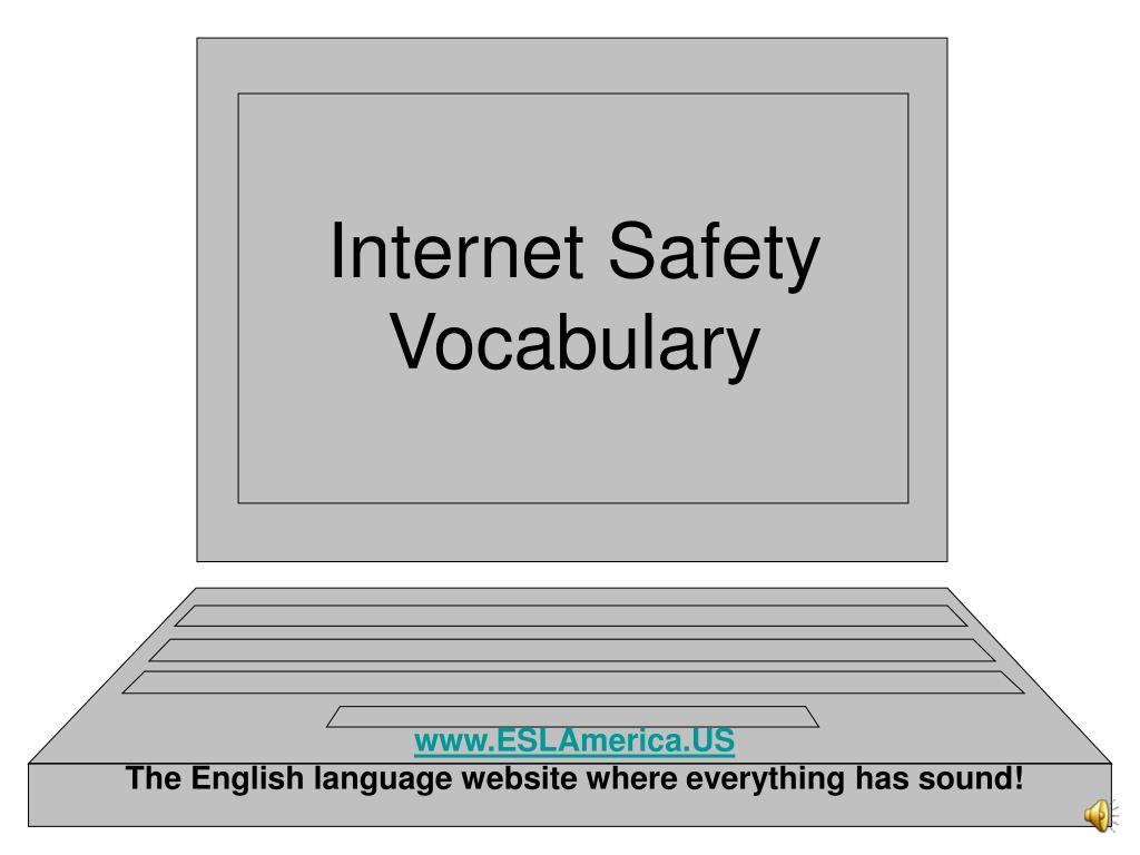 internet safety vocabulary l.