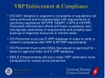 vrp enforcement compliance