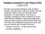 thomas d aquin et les trois cit s 1225 1274