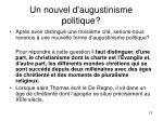 un nouvel d augustinisme politique