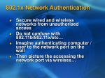 802 1x network authentication