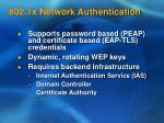 802 1x network authentication16