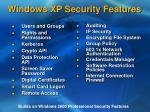 windows xp security features