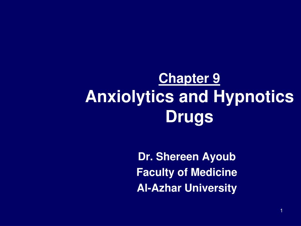 chapter 9 anxiolytics and hypnotics drugs l.