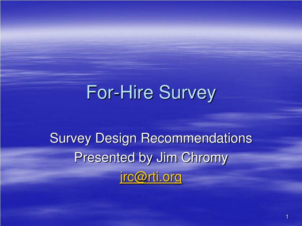 for hire survey l.