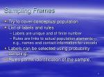 sampling frames