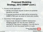 proposed modeling strategy 2012 dmmp cont
