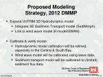 proposed modeling strategy 2012 dmmp