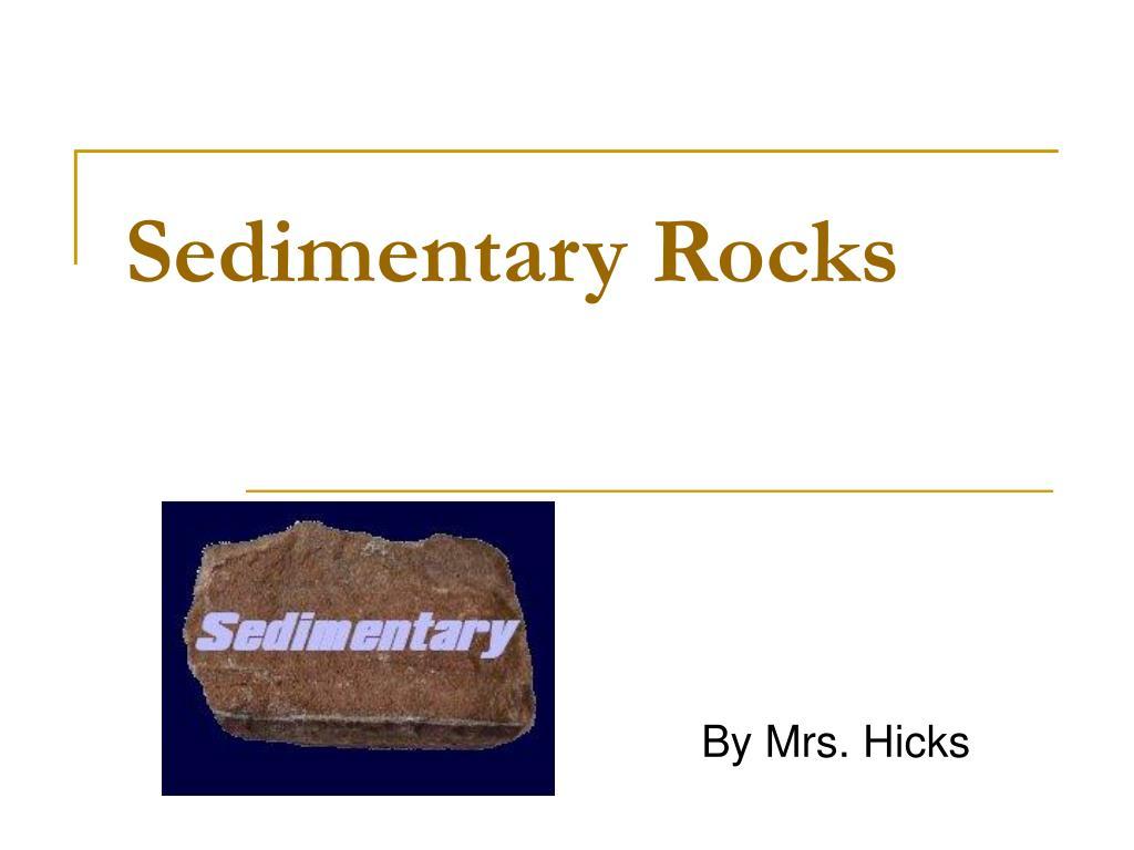 sedimentary rocks l.