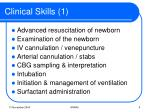 clinical skills 1
