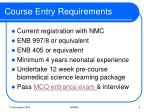 course entry requirements