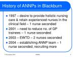 history of annps in blackburn