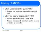 history of annps