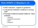 role annps in blackburn 2
