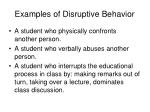 examples of disruptive behavior