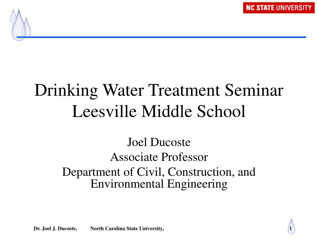 drinking water treatment seminar leesville middle school l.