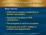 fcps fy 2005 proposed budget