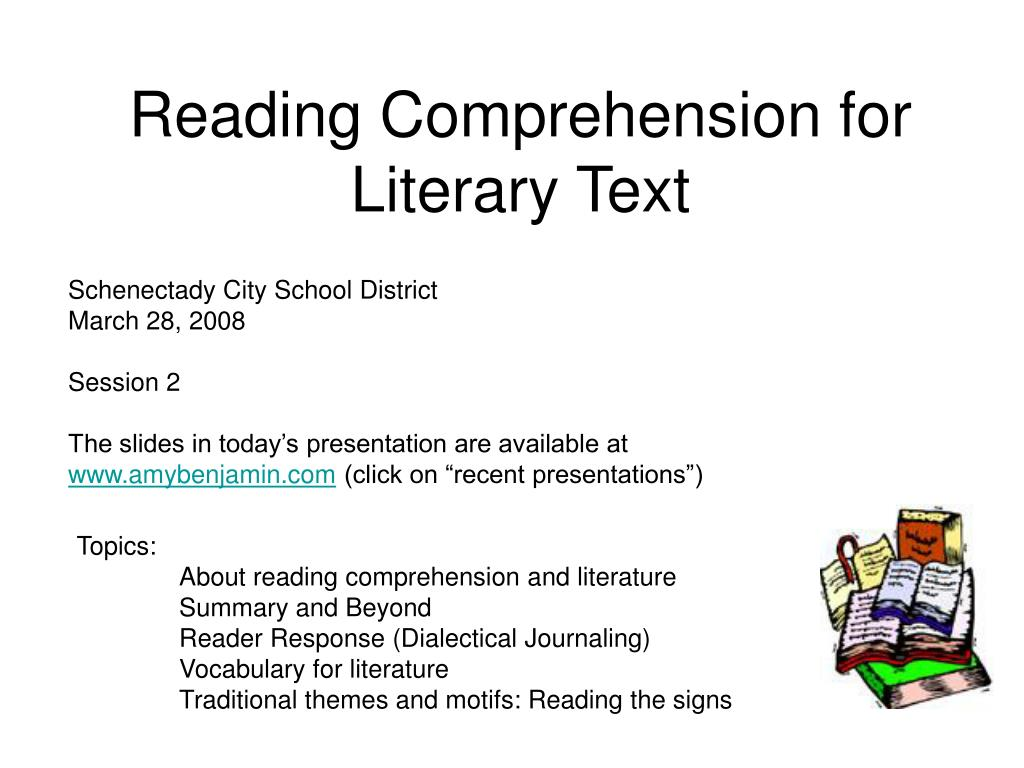 - PPT - Reading Comprehension For Literary Text PowerPoint