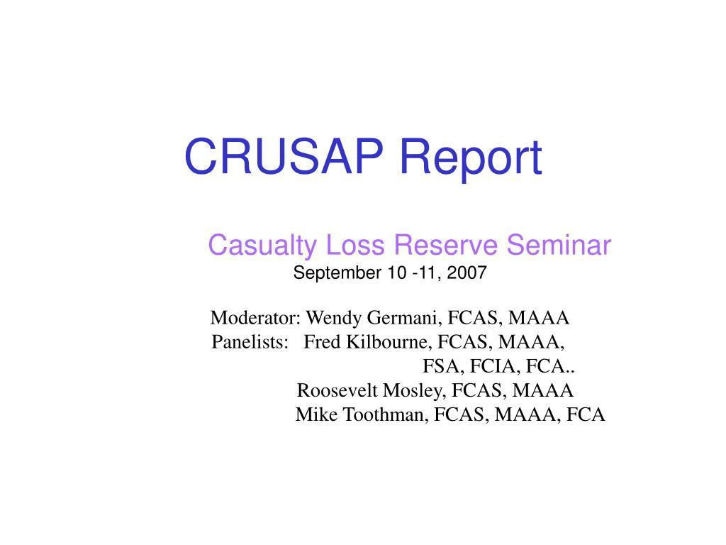 crusap report l.