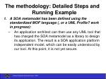 the methodology detailed steps and running example24