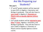 are we preparing our students29