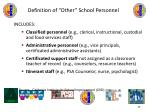 definition of other school personnel